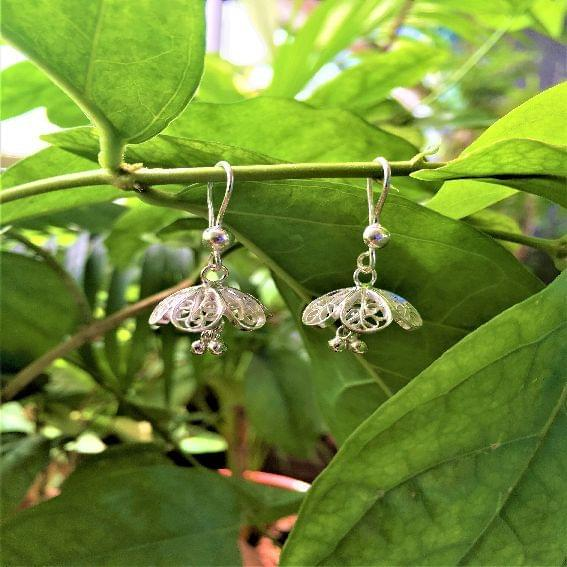 Silver Filigree Teeny Jhumki
