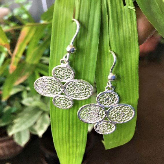 Silver Earrings Bubble Pop