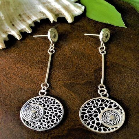 Silver Filigee Sassy Earrings