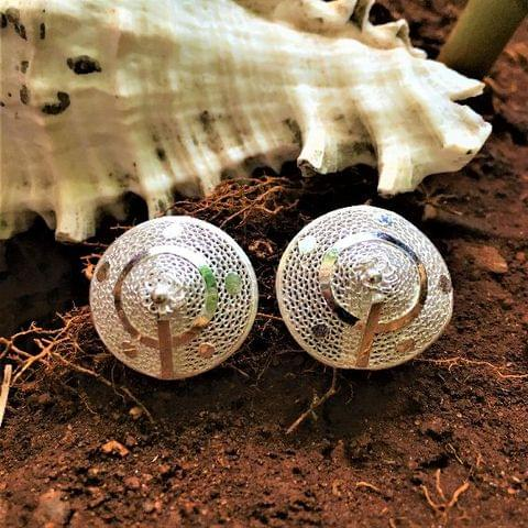 Silver Filigree Cone Earrings