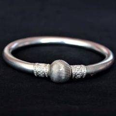 Silver Plain Ball Bangle