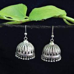 Oxidised Silver Filigree Jhumki