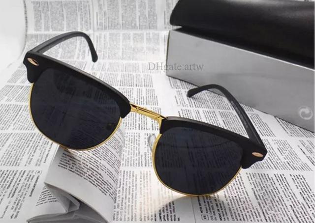 1d04693d6d0a Fashion Women Men luxury Sunglasses Unisex Semi-Rimless Sun glasses Brand  Designer shade eyeglasses Lens 10 ...