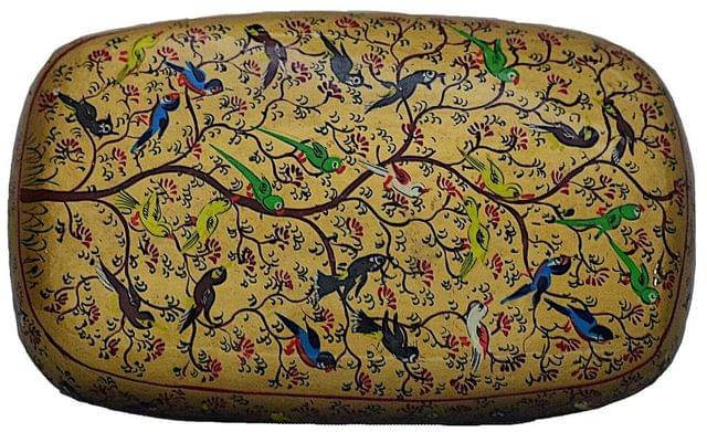 IndicHues Decorative Large Paper Mache Rectangular Jewelry Box