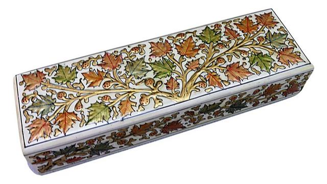 IndicHues Handpainted Paper Mache Watch Case from Kashmir