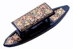 IndicHues Wooden Handpainted Paper Mache Shikara from Kashmir