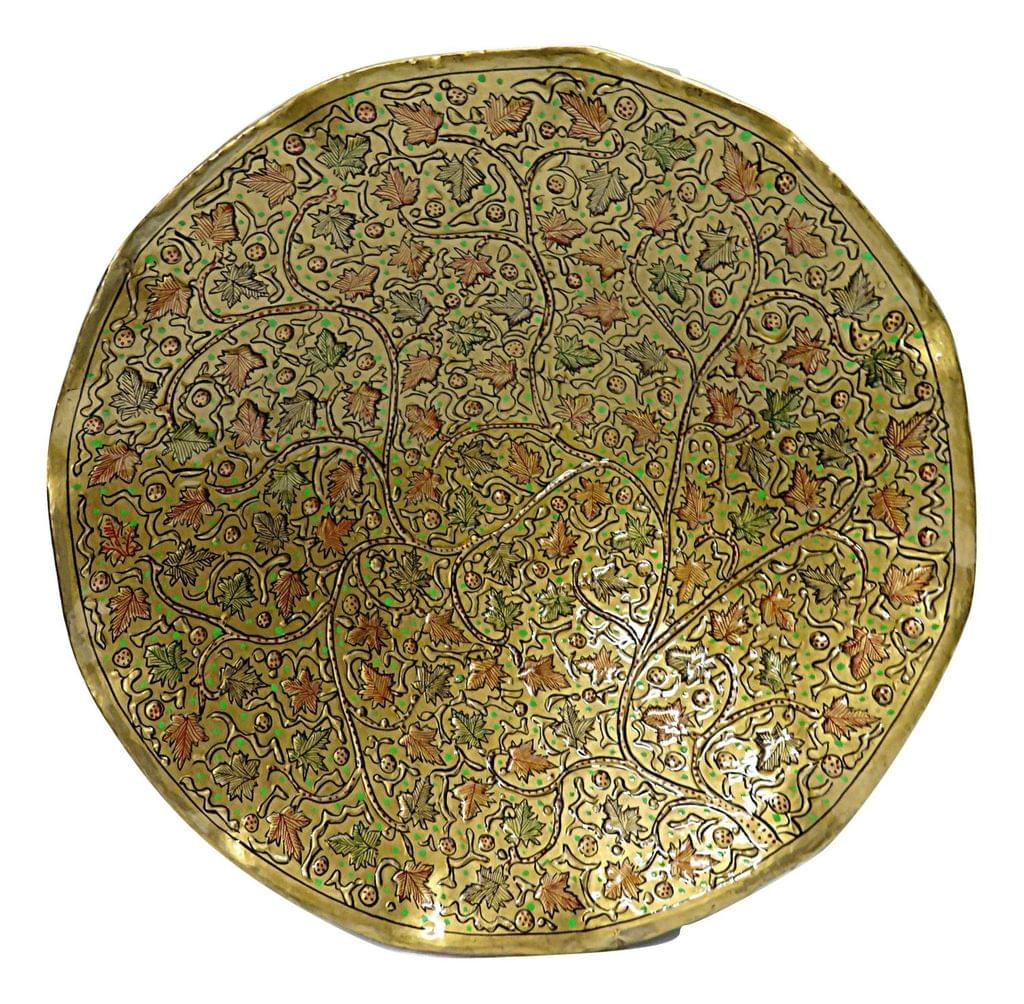 IndicHues Wall Decorative Handpainted Paper Mache Wall Plate from Kashmir