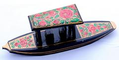 IndicHues Wooden Handpainted Paper Mache Shikara from Kashmir