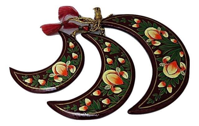 IndicHues Handmade Paper Mache Christmas Tree Decorative Moon set