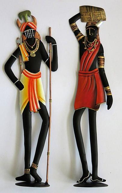 IndicHues Tribal Couple in Wrought Iron
