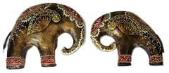 IndicHues Wrought Iron Elephant Pair