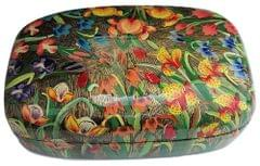 IndicHues Handmade Rectangular Tulips on Paper Machie Jewelry Box from Kashmir