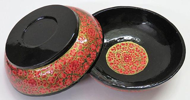 IndicHues Handcrafted Papier Mache Pink Bowl Set of 2 from Kashmir