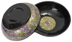 IndicHues Handcrafted Papier Mache Purple Bowl Set of 2 from Kashmir