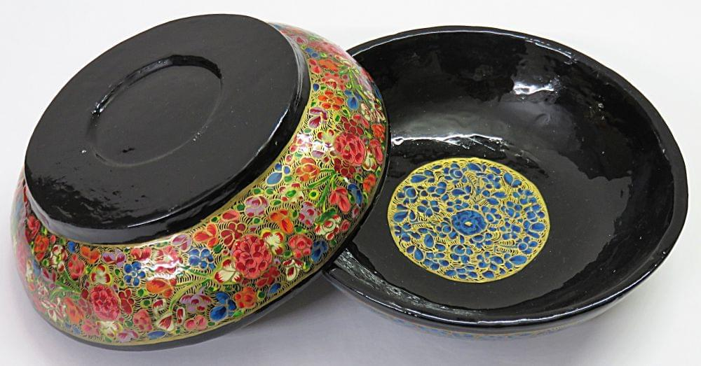 IndicHues Handcrafted Papier Mache Red, Blue Bowl Set of 2 from Kashmir