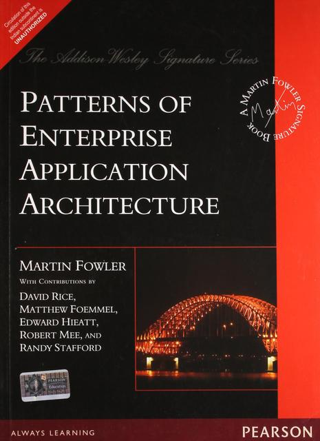 Patterns of Entperise Application Architecture