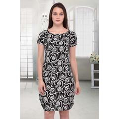 Black Crepe Stitched Dress