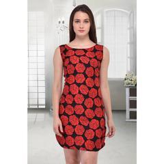 Multi Crepe Stitched Dress