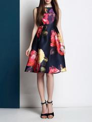 Girl Love to Wear Satin Dress-30064
