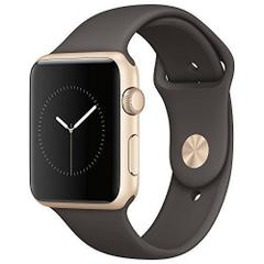 Apple Watch 42mm Series1 Gold Aluminum case with Cocoa Sport Band MNNN2
