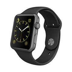 Apple Watch 42mm Series1 Space Grey Aluminum case with Black Sport Band MPO32