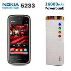 Nokia 5233 Mobile with Free 16000mAH PowerBank