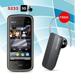 Nokia 5233 Mobile with Free Samsung Bluetooth Free
