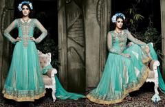 Aarika Scintillating Georgette Anarkali in Sea Green