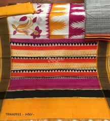Trayee Grey and Orange Cotton Set
