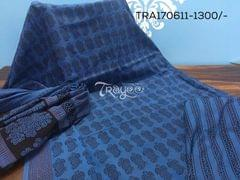 Trayee Deep Blue Jaipur Cotton Set