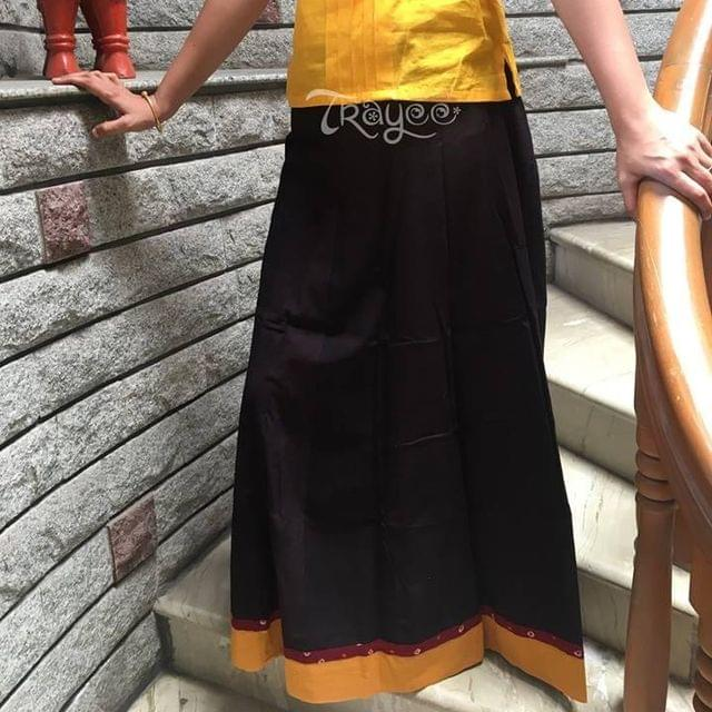 Trayee Plain Cotton Full Length Skirt