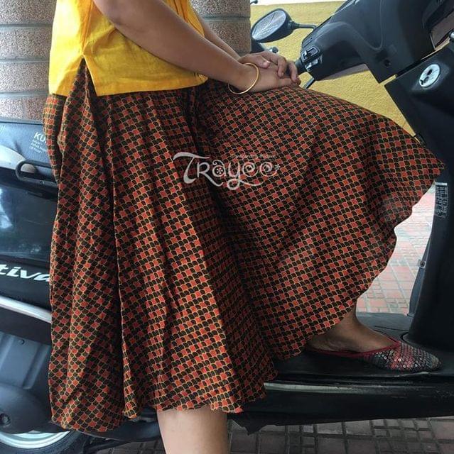 Trayee Jaipur Cotton Knee Length Skirt