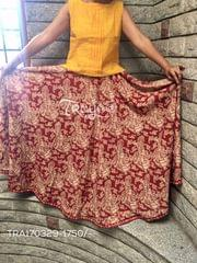 Trayee Kalamkari Printed Full Length Flared Skirt