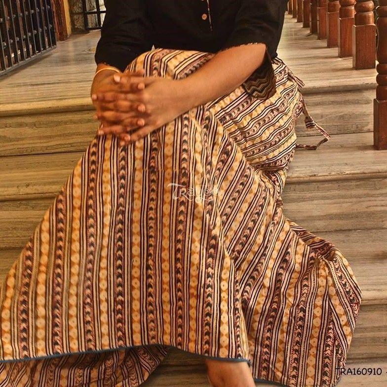 Trayee Cotton Kalamkari Print Long Skirt