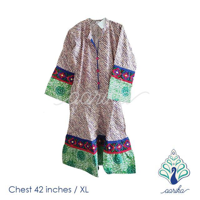 Aarika Cotton Anarkali Kurta Size XL