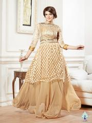 Aarika GeorgetteGown with Brasso Work and Pearl Embellishments