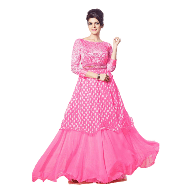Aarika Georgette Gown with Brasso Work and Pearl Embellishments