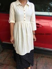 Trayee Cotton Dress Kurta - Available in black colour only
