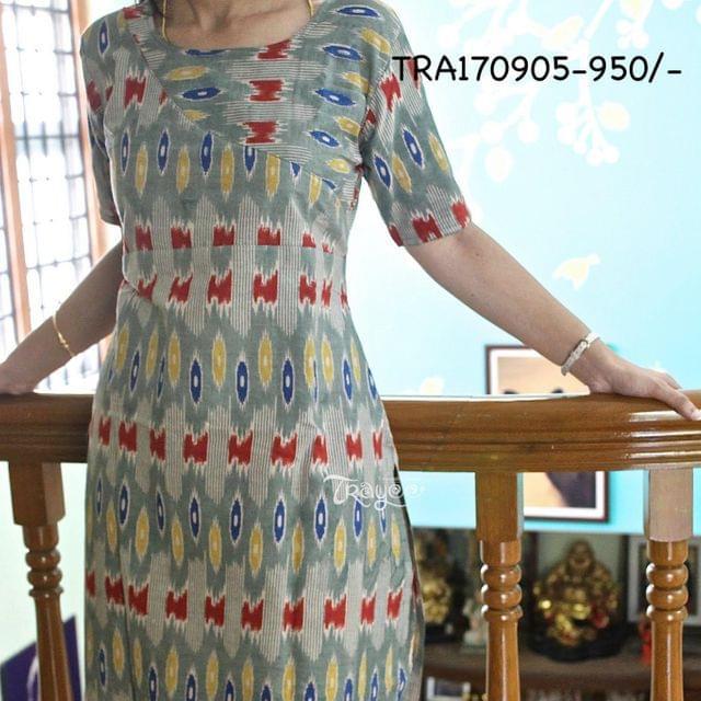 Trayee Multi-Colour Ikkat Cotton Kurta