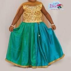 Little Bee Mirror Work Lehenga