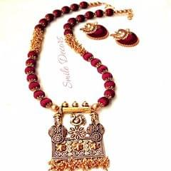 Smile Decors Attractive Peacock Pendant Silk Thread Jewellery