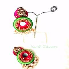 Smile Decors Grand Silk Thread Earrings