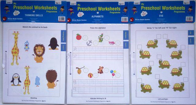 My Preschool Worksheets - Level 2 -Set 2