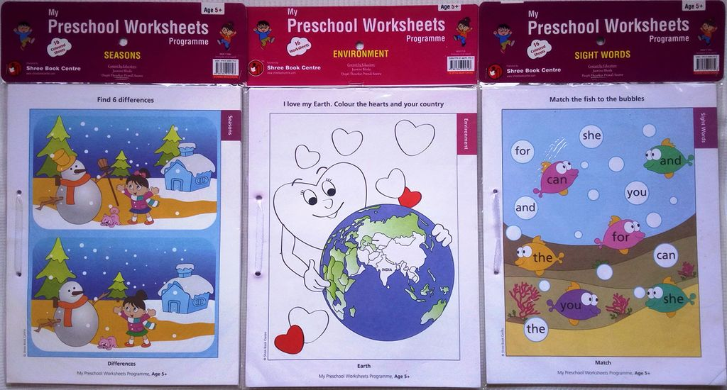 My Preschool Worksheets - Level 3 - Set 3