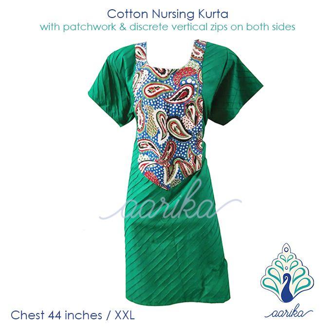 Aarika Kalamkari Print Patchwork Cotton Feeding Kurta