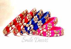 Smile Decors Kundan Work Thread Bangles