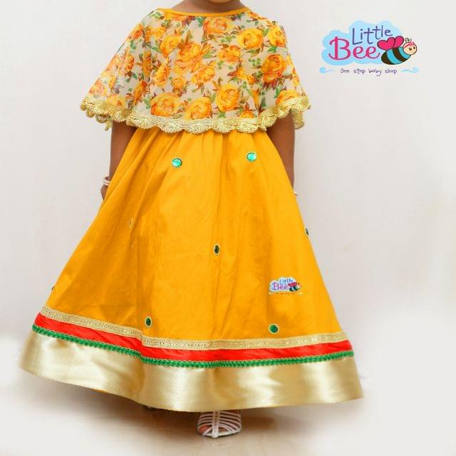 Little Bee Traditional Gown With Cape
