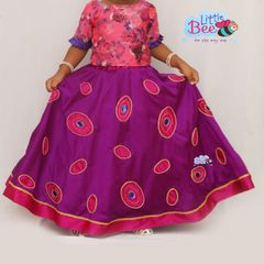 Little Bee Oval Pink and Magenta Skirt and Top