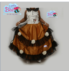 Little Bee Pom-Pom Newspaper Frock