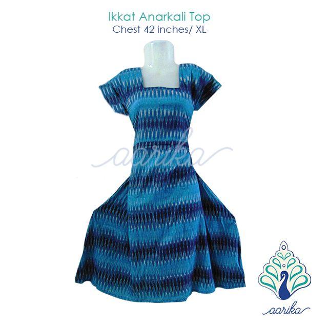 Aarika Ikkat Anarkali Top Size XL